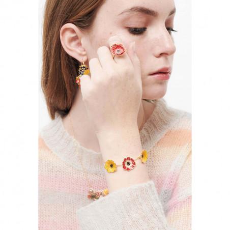Eagle owl French hook earrings