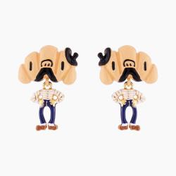 Sir Croissant Clip On Earrings