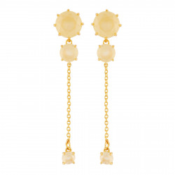 Earrings With 3 Citrine...
