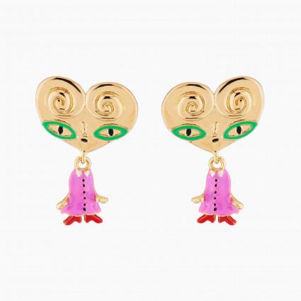 Boucles D'oreilles Originales Boucles D'oreilles Tiges Tata Palmier80,00€ AMFP103T/1N2 by Les Néréides