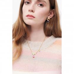 Light pink flower earrings