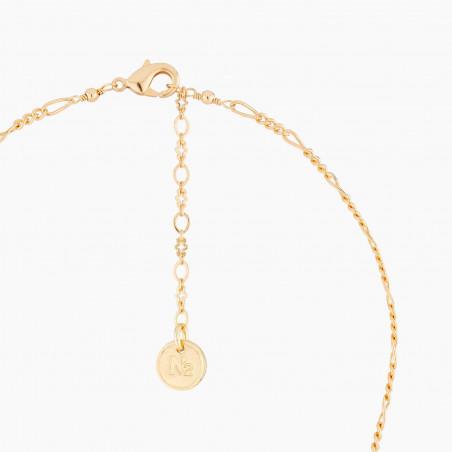 Bracelet manchette couture bouquet d'un jardin d'hiver (S)