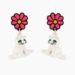 White Cat And Daisy Clip-on...