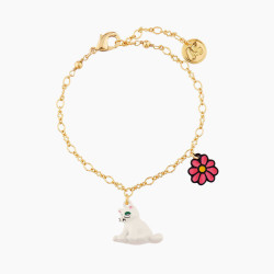 White Cat And Daisy Bracelet