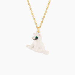 White Cat Pendant Necklace