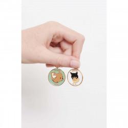4 green forest stones earrings