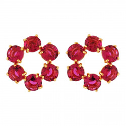 Small Hoops With 6 Garnet...