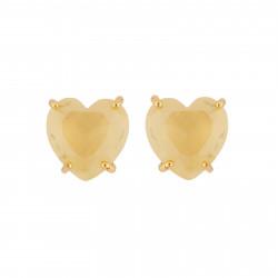 Small Citrine Yellow Heart...
