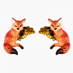 Fox Cub Stud Earrings