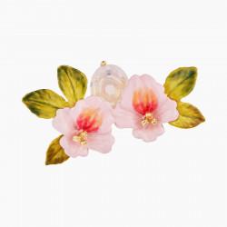 Broche Flores De Castaño