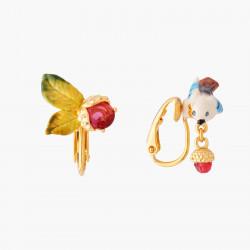 Boucles D'oreilles Clip Boucles D'oreilles Clip Asymmétriques Châtaigne Et Geai Des Chênes90,00€ AMEF106C/1Les Néréides