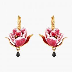 Pink Tulip Dormeuses Earrings