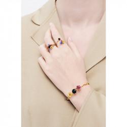 Bracelets Jonc Bracelet Jonc Boutons D'hiver Et Pierre Noir130,00€ AMBH202/1Les Néréides