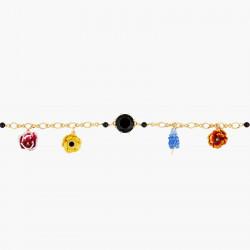 Bracelets Charms Bracelet Charm's Boutons D'hiver Et Pierre Noir140,00€ AMBH203/1Les Néréides