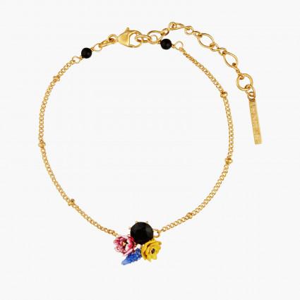 Bracelets Fins Bracelet Fin Boutons D'hiver Et Pierre Noir100,00€ AMBH205/1Les Néréides