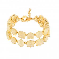 Bracelets Charms Bracelet Luxe Deux Rangs Jaune Citrine