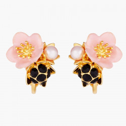 Boucles D'oreilles Clip Boucles D'oreilles Clip Fleur Rose Et Goutte De Rosée90,00€ AMCM105C/1Les Néréides