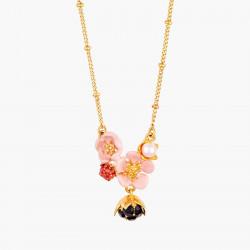 Colliers Pendentifs Collier Pendentif Fleur Rose, Goutte De Rosée Et Framboise130,00€ AMCM305/1Les Néréides