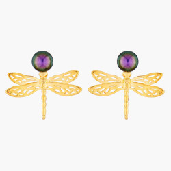 Small Dragonfly Stud Earrings