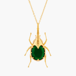 Beetle Pendant Necklace