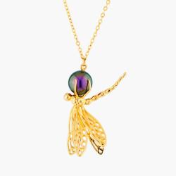 Colliers Pendentifs Collier Pendentif Libellule Et Perle Iridescente110,00€ AMEN302/1Les Néréides