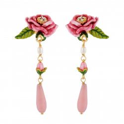 Pendientes Flor Color Rosa,...