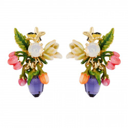 Earrings With Berries, Bee...