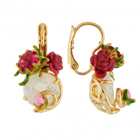 Flowered letter L necklace