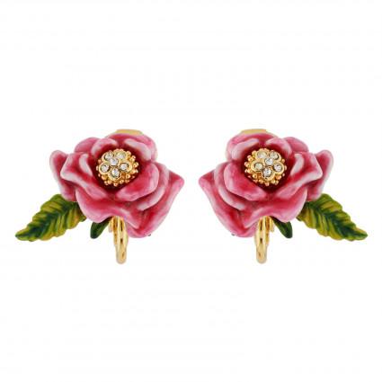 Boucles D'oreilles Clip Boucles D'oreilles Clip Fleur Rose Et Feuille80,00€ AHPV112C/1Les Néréides