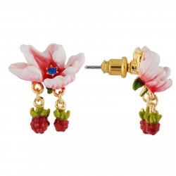 Boucles D'oreilles Tiges Boucles D'oreilles Fleur Rose Pâle Et Petites Mûres65,00€ AHPV114T/1Les Néréides