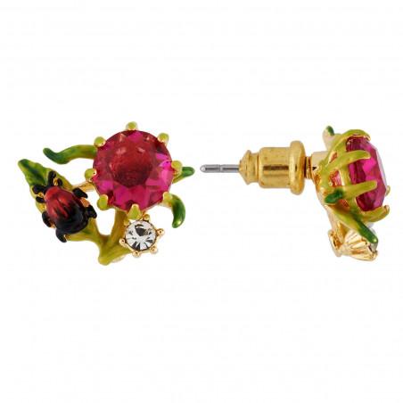 Collier fleurs et verre taillé