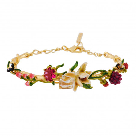 Flowered letter S necklace