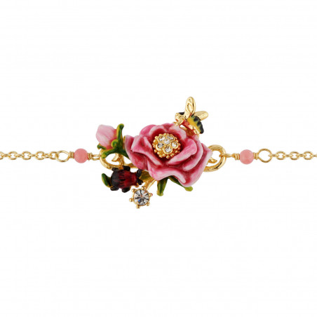 Flowered letter T necklace