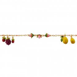 Flowered letter U necklace