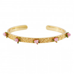 Flowered letter V necklace