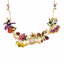 Flowered letter W necklace