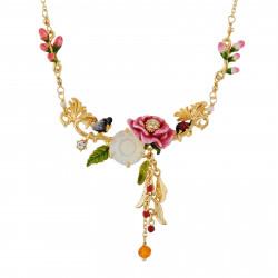 Colliers Fins Collier Fleur Rose Sur Verre Taillé, Papillon Et Baies205,00€ AHPV304/1Les Néréides