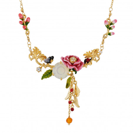 Flowered letter Y necklace