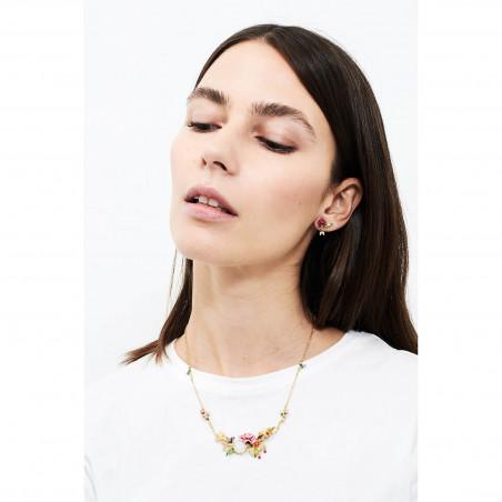 Flowered letter Y necklace