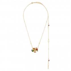 Colliers Pendentifs Collier Transformable Fleur Blanche Sur Verre Taillé, Papillon Et Strass185,00€ AHPV308/1Les Néréides