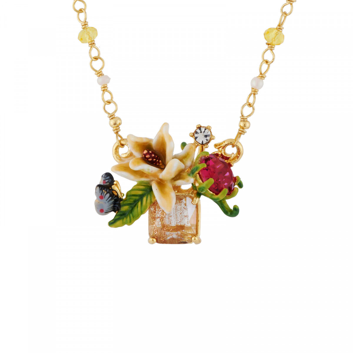 Flowered letter Z necklace