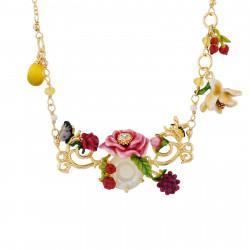 Colliers Sautoirs Sautoir Fleur Rose Sur Verre Taillé Et Pampilles Citrons Et Petites Fleurs240,00€ AHPV309/1Les Néréides