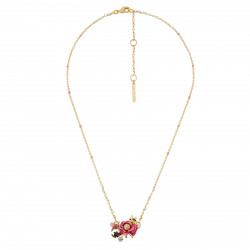 Collar Flor Color Rosa