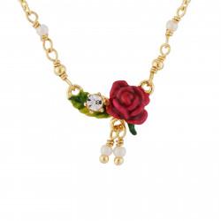 Colliers Pendentifs Collier Petite Fleur Rose, Feuille Et Pampilles70,00€ AHPV312/1Les Néréides