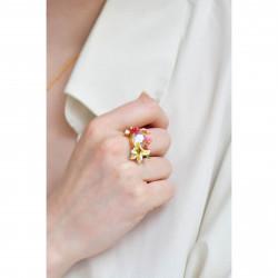 4 green forest stones clip earrings