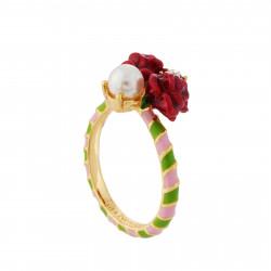 Anillo Rosas Y Perlas