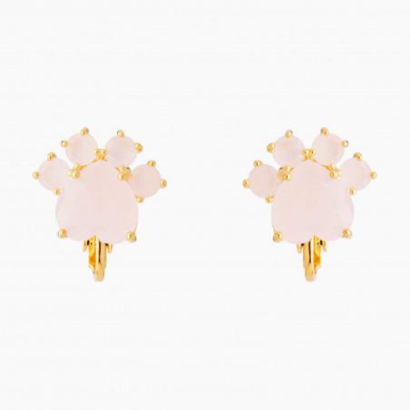 Bracelet fleur blanche et verre taillé