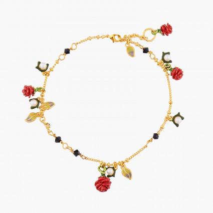 Bracelets Charms Bracelet Pendentif Bouton De Rose Rouge Et Perles Fantaisie140,00€ WBR203/1Les Néréides