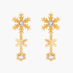 Golden Snowflakes Stud...