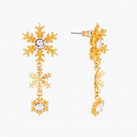 Bracelet jonc perles, amas de roches en cubes dorés et de verre taillé (M)